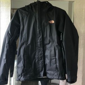Black size XS North Face Raincoat